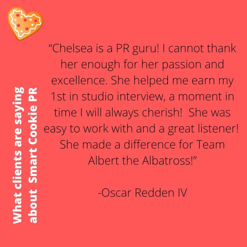 Smart Cookie PR Testimony Oscar